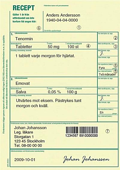 skriva recept läkemedel