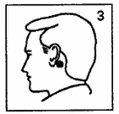 tryck bakom örat
