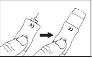 Om nåldöljare används, tryck på svarta knappen