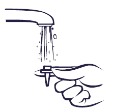 skölj under kranvatten