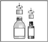 öppna flaskorna