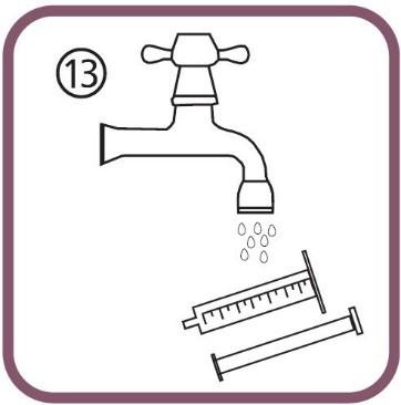 Tvätta den orala dossprutan