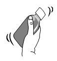 Läkemedlet kan sväljas direkt från doseringssprutan eller blandas i ett litet glas med vatten