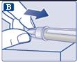 Sätt på det yttre nålskyddet och skruva loss nålen