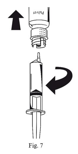 Sprutan avlägsnas från överföringssetet