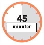 45 minuter