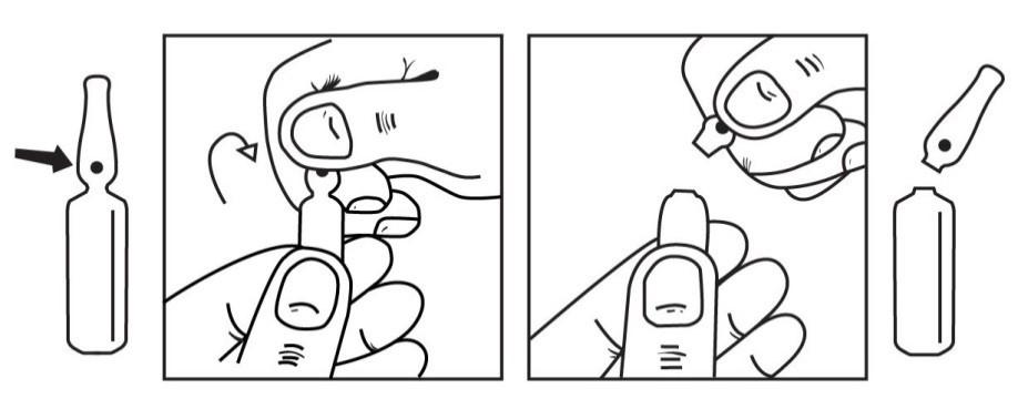 Hur ampullerna öppnas