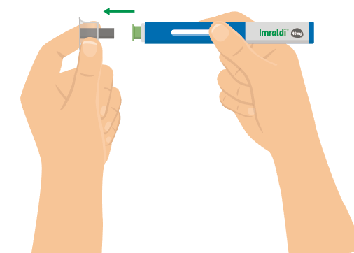 5. Dra av det genomsnittliga nålskyddet