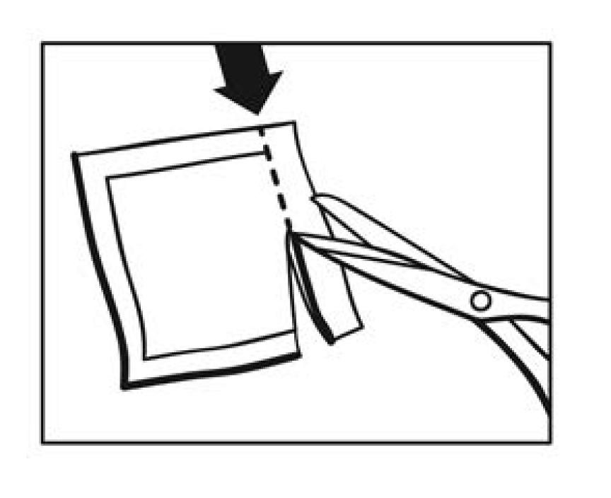 Klipp upp plåsterkuvertet