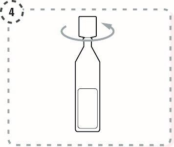 Vrid av toppen på endosbehållaren