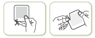 Steg 2: Öppna kuvertet