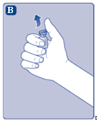 Ta av plastlocket från injektionsflaskan.