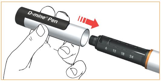 Tryck fast injektionspennans skyddslock ordentligt efter varje användning.