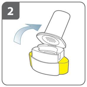 Öppna inhalatorn