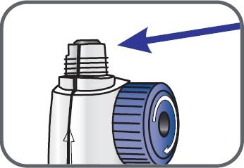 • Kontrollera att kolvstången på blandningsenheten ser ut så här (helt indragen)