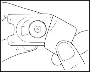 Bilden visar hur du sätter på anslutningsproppen