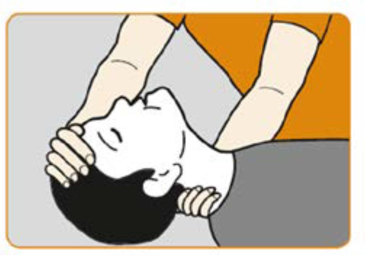 Stöd nacken och luta huvudet bakåt