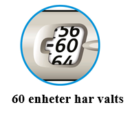 60 enheter har valts