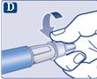 Skruva fast injektionsnålen