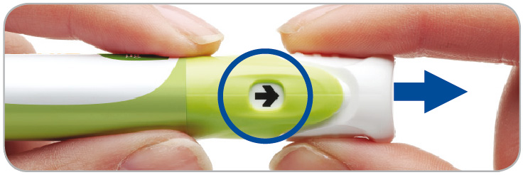 Dra ut injektionsknapp