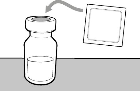 Rengör injektionsflaskans propp
