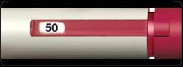 Om fullständig dos ej injicerats, visas den mängd som måste injiceras med en ny injektionspenna i doseringsfönstret.