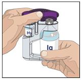 5. Öppna HyQvia enheten/ enheterna med två injektionsflaskor: