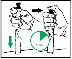 Förbered injektion och injicera