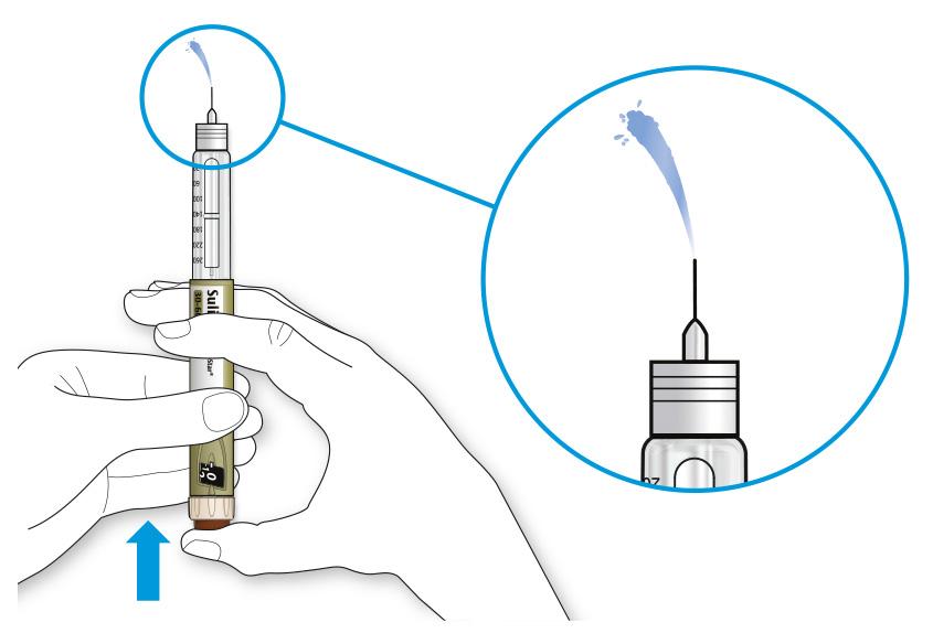 Bilden visar hur du trycker in dosknappen