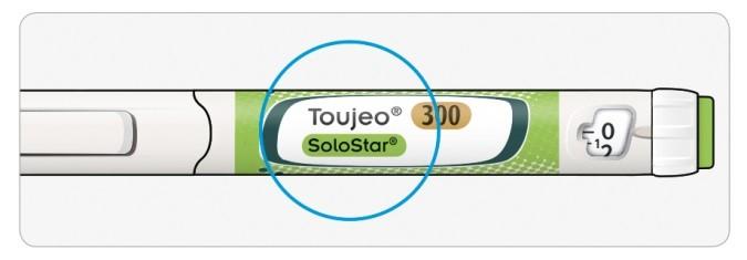 Kontrollera namn och utgångsdatum på pennans etikett
