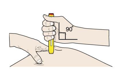Placera pennan vinkelrätt mot huden