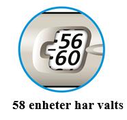 58 enheter har valts