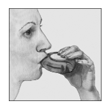 Bilden visar hur man andas in genom Diskus