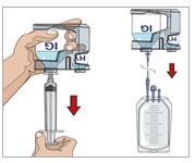 8. Förbered injektionsflaskan med humant normalt immunglobulin 10 %: