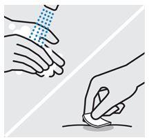 Tvätta händer och injektionsställe