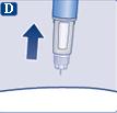 Ta bort injektionsnålen från huden