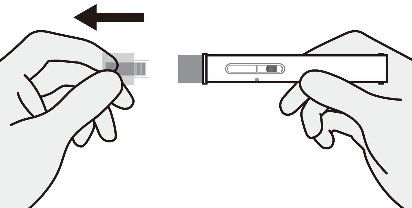 Ta bort skyddet från injektionspennan