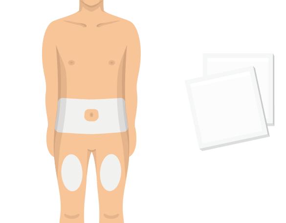 4. Välj ett injektionsställe och rengör huden