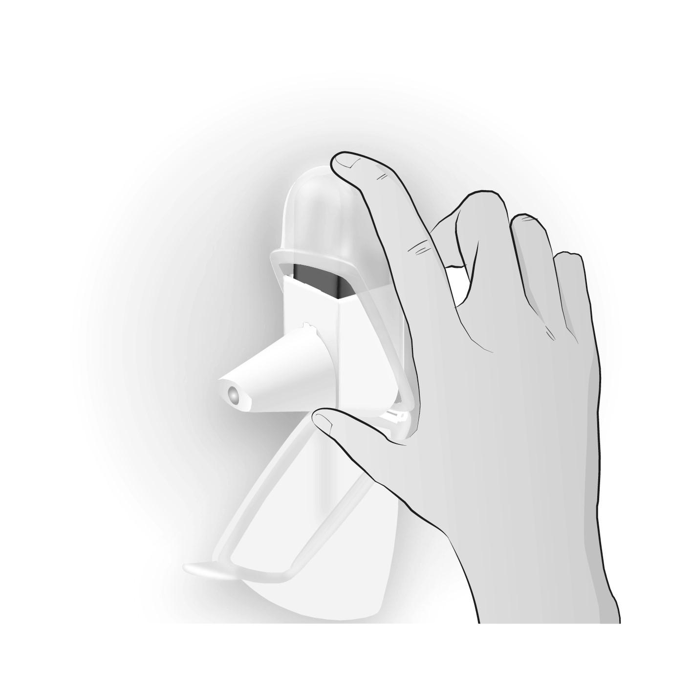 Inhalator med skyddshölje