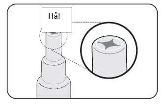 Kontrollera att det gått hål på membranet