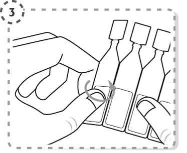 Bryt av en endosbehållare från remsan