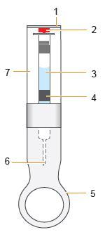 Bilden visar kassett för dosdispenser