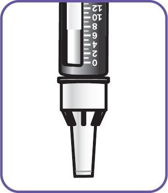 Håll Natpar pennan med nålen riktad rakt ned.
