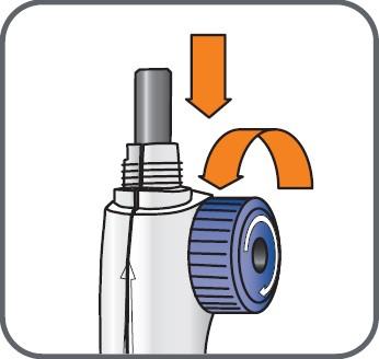 Vrid hjulet på blandningsenheten moturs för att dra in kolvstången om den inte redan är indragen.