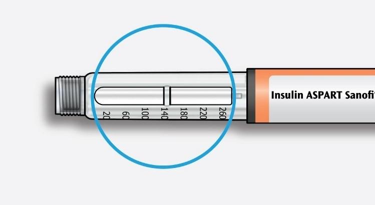 Kontrollera att insulinet är klart