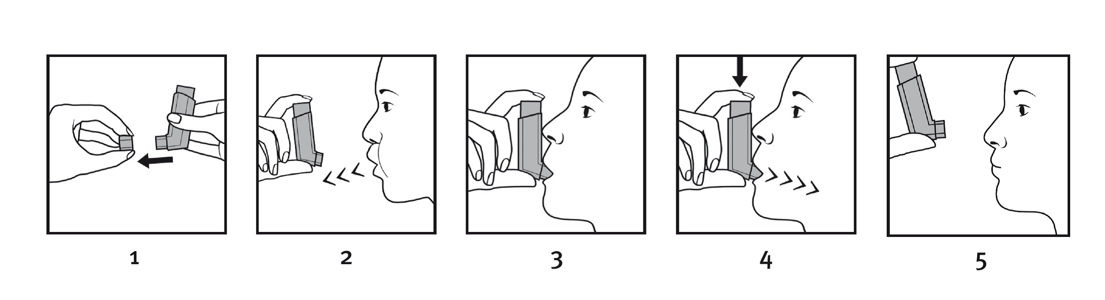 Steg för steg användning av inhalatorn