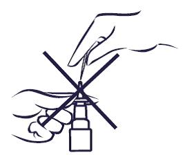 rensa inte sprayhål