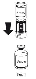 Hur överföringssetet och vätskan ansluts till pulvret