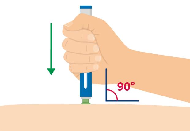 6. Placera den gröna basen, tryck ner och håll