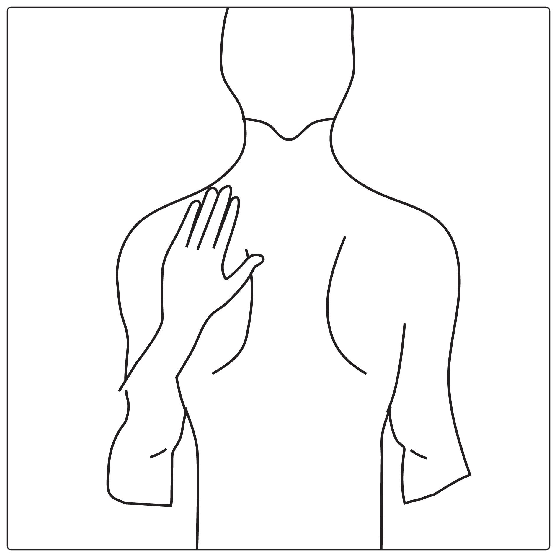 Tryck depotplåstret mot huden